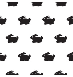 Rabbit black and white kid pattern vector image
