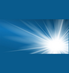 ray blue background shiny graphic abstract sun vector image