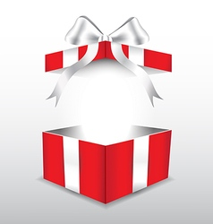 red gift box with white ribbon vector image