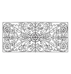 Roman oblong panel has a freer palmette design vector