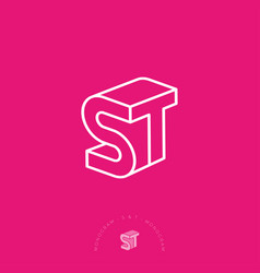 s t monogram business box construction vector image