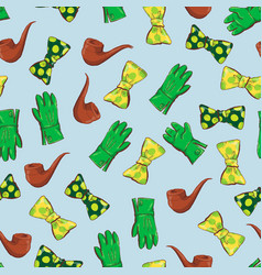 Seamless pattern clovers for st patricks day vector