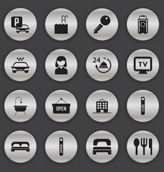 Set of 16 editable icons includes symbols such a vector