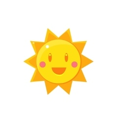 Simple Yellow Sun Drawing vector
