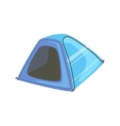 Small Blue Bright Color Tarpaulin Tent vector image