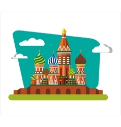 St Basils Cathedral in Russia vector