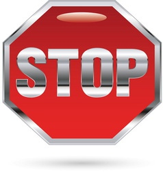 Stop metal sign vector