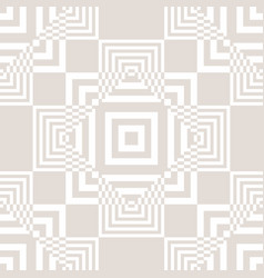 subtle checkered geometric seamless pattern vector image