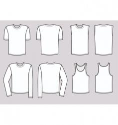 t-shirts man vector image