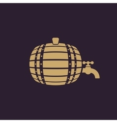 The Barrel icon Cask and keg beer Barrel symbol vector