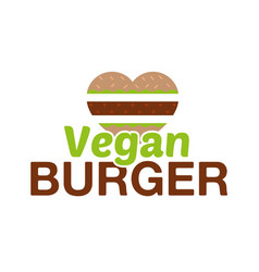 vegan burger vector image