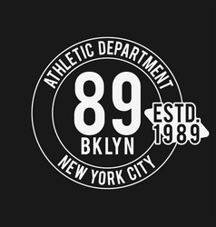 Vintage badge athletic sport typography for t vector