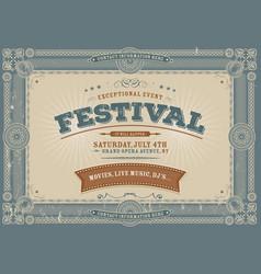 Vintage fourth july festival background vector
