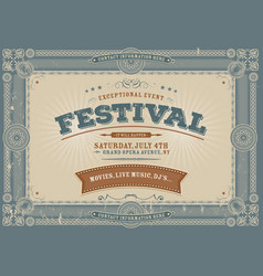 Vintage fourth of july festival background vector