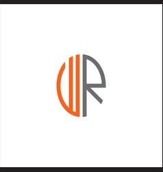 W r letter logo creative design on black color vector
