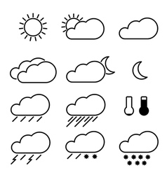 weather icons with white background vector image