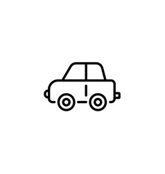 Web line icon car children toy black on white vector