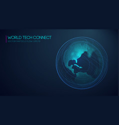 World tech connect cyberspace and visual energy vector