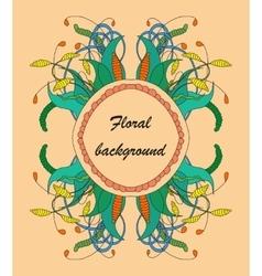 Zentangle floral element vector image