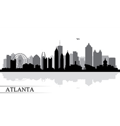 Atlanta city skyline silhouette background vector