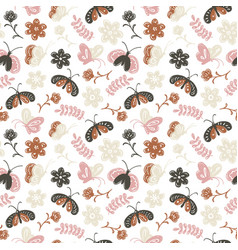 childrens doodle style seamless pattern with vector image vector image