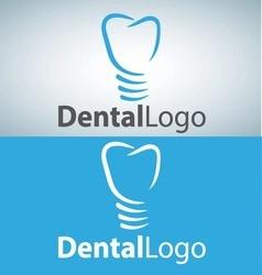 dental logo 6 vector image vector image