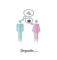 Deposits vector image vector image