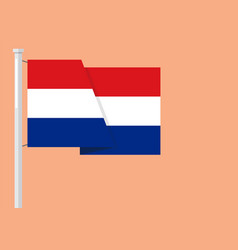 netherlands flag with copyspace vector image vector image