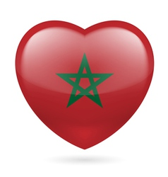 Heart icon of Morocco vector image vector image