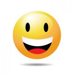 open eye smile vector image
