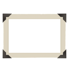 vintage photo frame design vector image vector image