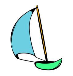 yacht icon icon cartoon vector image