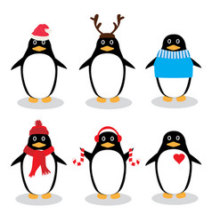 funny penguins vector image