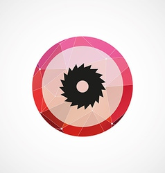industrial saw circle pink triangle background vector image