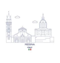 messina city skyline vector image vector image