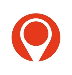 Pin map pointer location symbol red circle vector