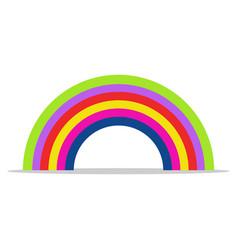 rainbow icon on white background vector image