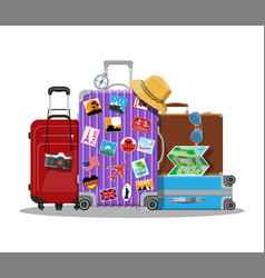 vintage and modern travel bag vector image vector image