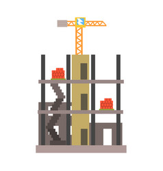 building construction vector image