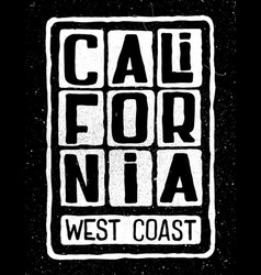 california west coast poster vector image