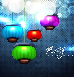 christmas lamps vector image vector image