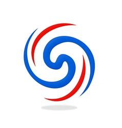 circular abstract swirl logo vector image vector image