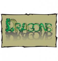 dragon font vector image vector image