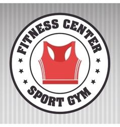 fitness center sportswear gym vector image