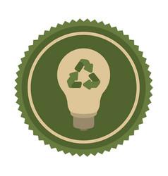 green eco bulb icon vector image