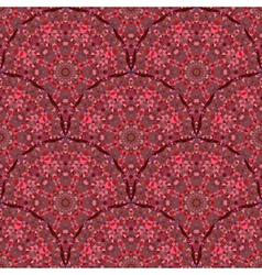 Red Geometric Pattern Vintage vector image vector image