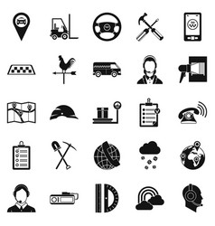 supervisor icons set simple style vector image vector image