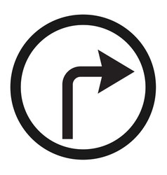turn right arrow sign line icon vector image