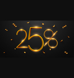 25 percent off discount creative composition vector