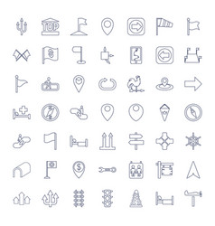 49 direction icons vector